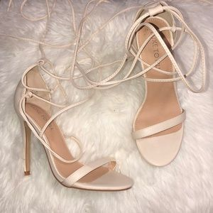 77eaac25a7d7b Shoes - Light Nude strappy heels